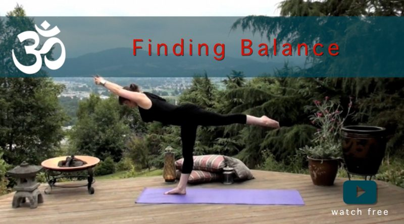 finding balance yoga flow